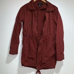 Forever 21 burgundy red military style jacket